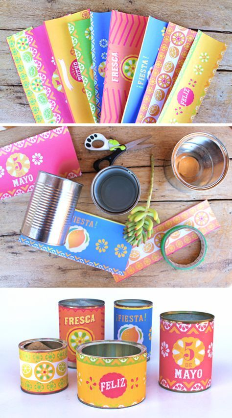 Printable food can labels - Mexican DIY templates + ideas!
