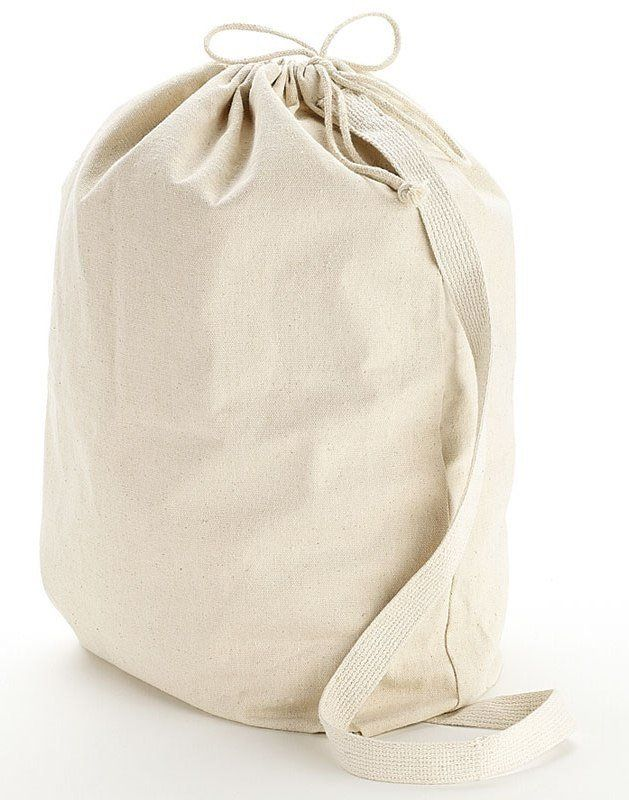 Availability:All sizes are available in stock.  This wholesale drawstring laundry bag is made of heavy cotton making it a durable buy for a cheap price. These cheap laundry bags are available in Small, Medium and Large sizes. Stop dragging around that plastic laundry basket to the Laundromat, this thick laundry bag lets you store multiple laundry loads and the shoulder strap makes it easy to lift on the move.  Product Description: Heavy Canvas. Drawstring opening. Web shoulder strap.…