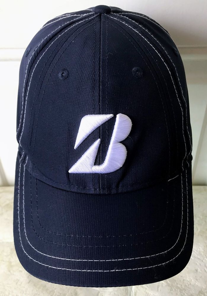 Bridgestone Golf Hat Strapback Embroidered Logo Navy Blue Cap  Bridgestone   BaseballCap 56f93e2842d