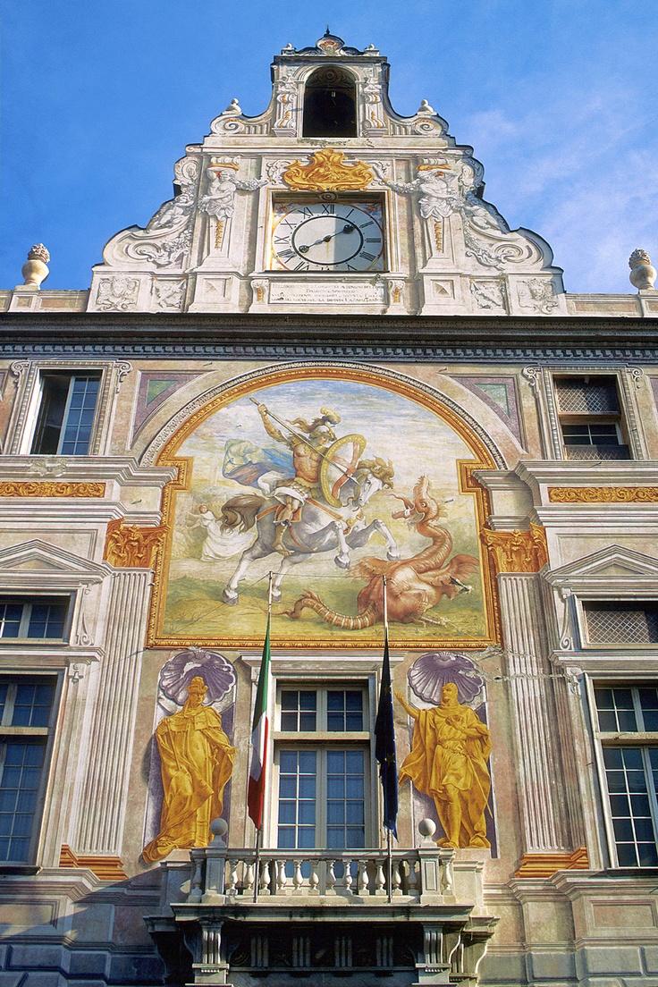 Particolare di Palazzo San Giorgio, Genova, Liguria - © Silvio Massolo