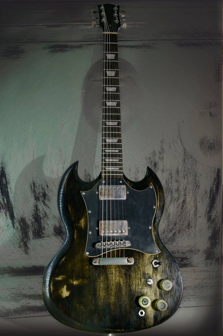 SG Ashes model. Relic finish electric #guitar   Colombani guitares