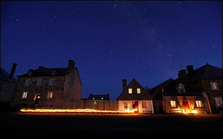 Fortress of Louisbourg at night