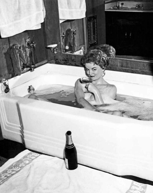 """20th-century-man: """"Arline Hunter / Playboy's Playmate of the Month, August 1954 / photo by Ed DeLong. """""""
