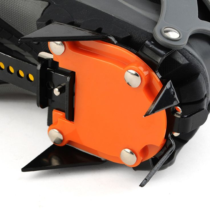 14-point Manganese Steel Climbing Gear Crampons Ice Grippers Sales Online orange - Tomtop.com