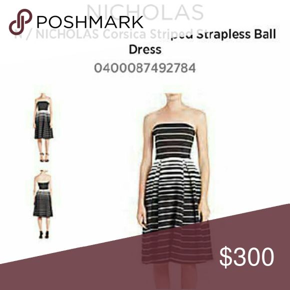 High end fashion dresd Positano stripe ball dress Nicholas Kirkwood Dresses Strapless
