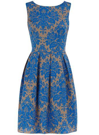 Dorothy Perkins: Antiques Wallpapers, Style, Blue Dresses, Dorothy Perkins, Prom Dresses, Colors Shoes, Damasks Dresses, Blue Damasks, Wear