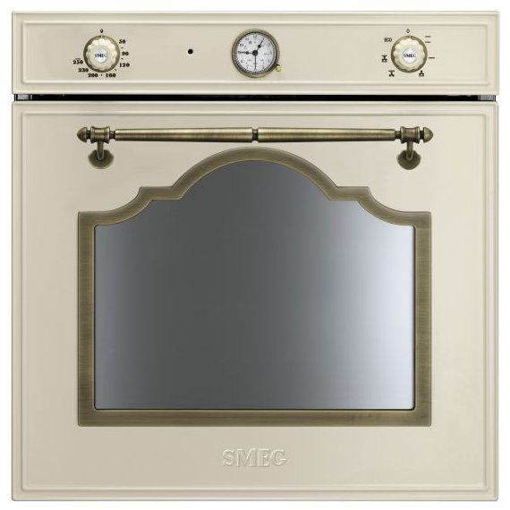 SmegCortina Built In Multifunction Oven Brass TrimSF700PO £499