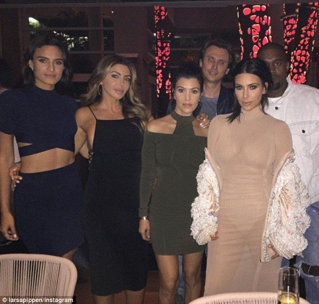 Invited to nuptials: The Kardashians and their pals including Larsa Pippen are in town for...