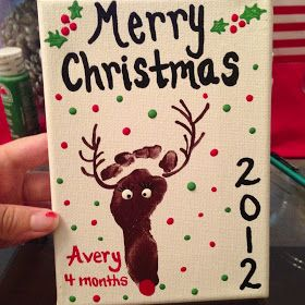Simply Made...with Love: Baby Reindeer Footprint Craft