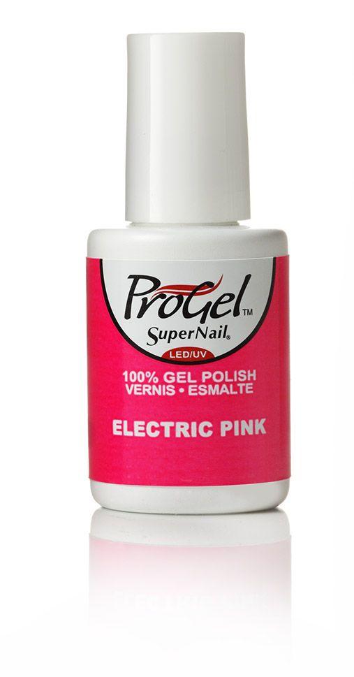 Esmalte en gel para Uñas Progel Color Electric Pink
