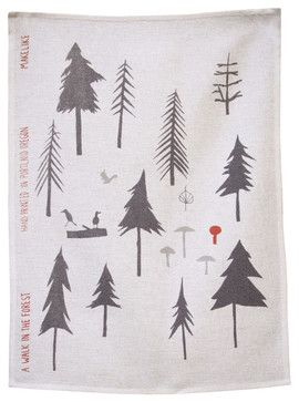 Tea Towel - A Walk In The Forest eclectic dishtowels