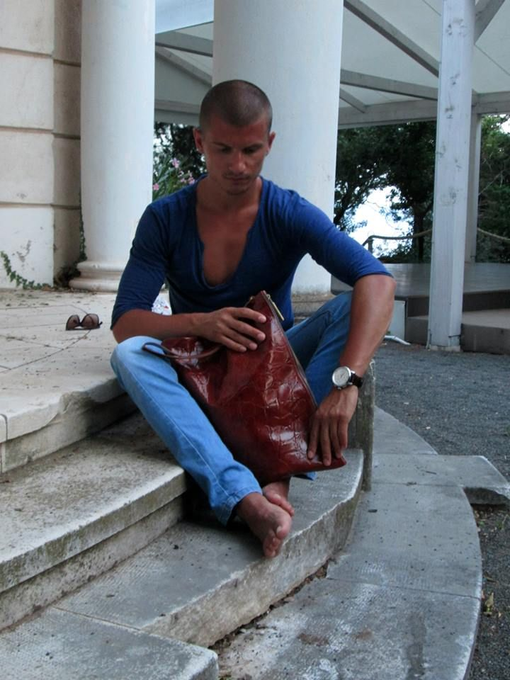 Mucca - Croco Cognac, 100% natural leather bag, Visit us on our web site: www.muccamucca.com* Delivery worldwide