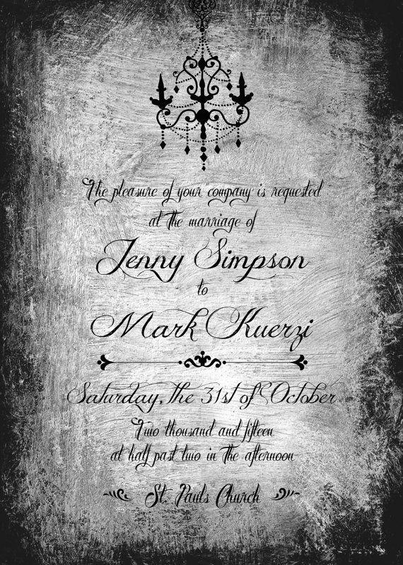 Gothic Wedding Invite Bundle Printable Halloween By ParvezPapers