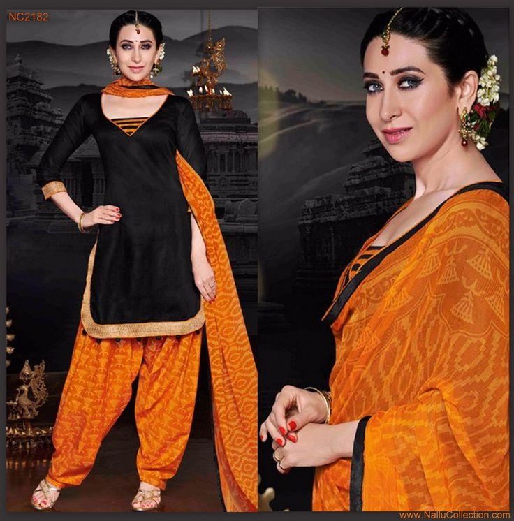 Look Trendy in Black Patiyala Suit!  #patialasuits