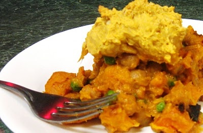 Vegetarian cooking. Chickpea squash pot pie with pumpkin. Wow. I need ...