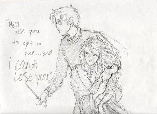 Harry and Ginny fan art. Awww, just awww.