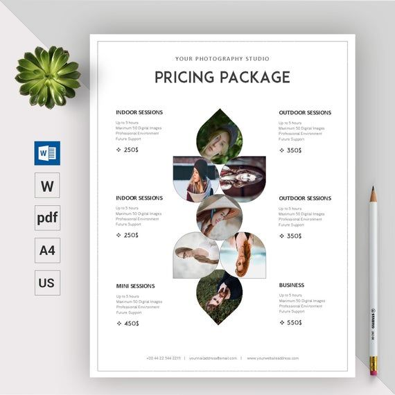 Photography Pricing Template Photography Price List Etsy In 2021 Photography Pricing Template Photography Price List Photography Pricing