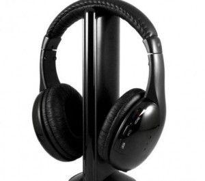 Słuchawki z radiem, mikrofonem i funkcją podsłuchiwania - Trafiony prezent