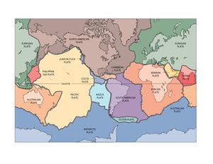 RING OF FIRE - Plate Tectonics Map - Volcanoes and Earthquakes
