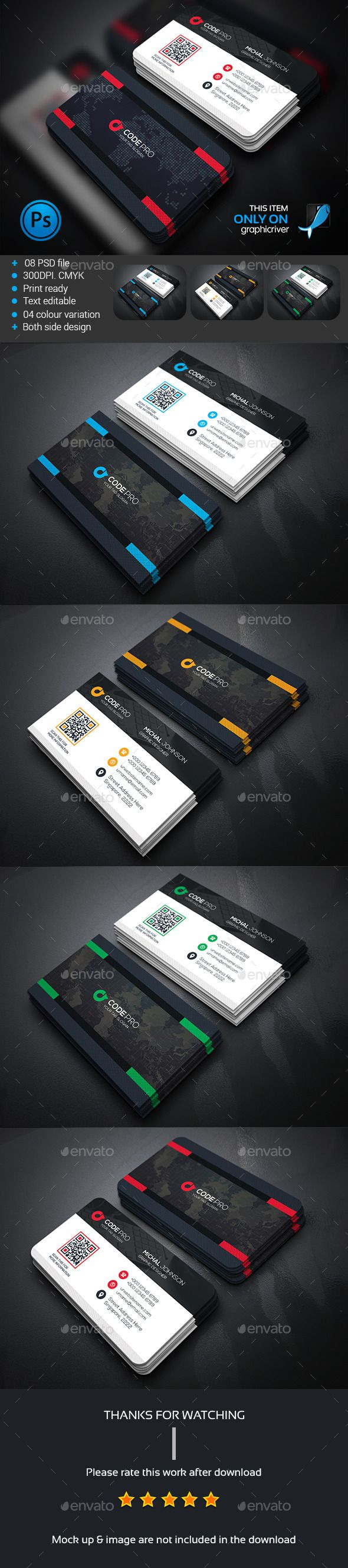 Business Card,  I like this design, white and black. Maybe a good choice for my proposal, it is elegant, simple, is earnest about the company