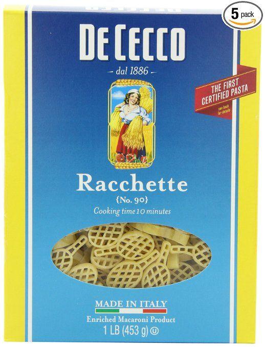 De Cecco Racchette, 16 Ounce Boxes (Pack of 5)