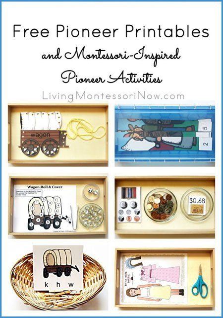 Free Pioneer Printables and Montessori-Inspired Pioneer Activities