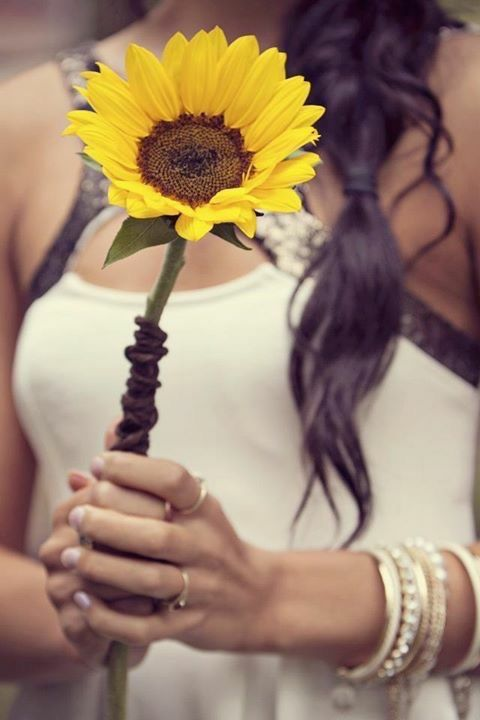 Country Chic Sunflower Bouquet by Blooms + Twine Floral Studio