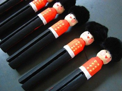 Dolly peg soldiers - the kids and I did this a couple yrs ago, they loved it!