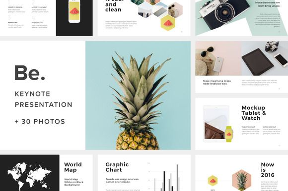 Be. Keynote Presentation + 30 Photos by Fromade Studio on @creativemarket