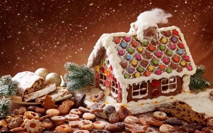 Gingerbread House Christmas Wallpaper HD