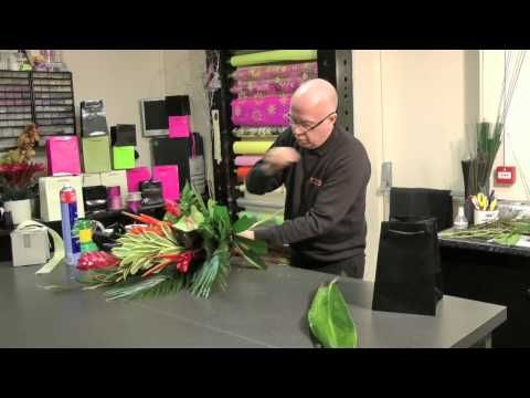 Interflora How-To: Heart Shaped Design with a Difference - YouTube