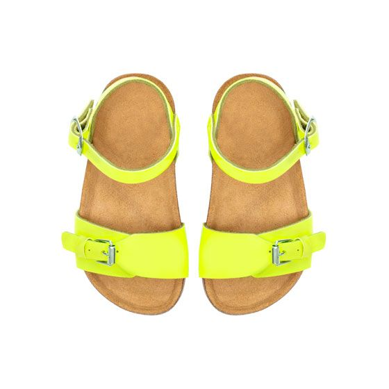 Image 2 of Neon sandals from Zara