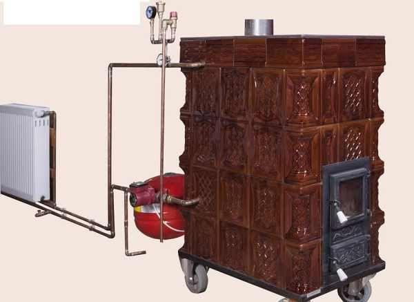 Si-a construit singur o centrala termică în soba de teracotă si acum cu un foc incalzeste toata casa. Uite cum a facut