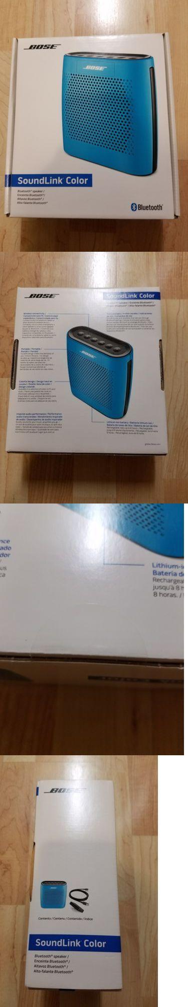 Audio Docks and Mini Speakers: Brand New Bose Soundlink Color Bluetooth Speaker (Blue) Bnib -> BUY IT NOW ONLY: $110 on eBay!
