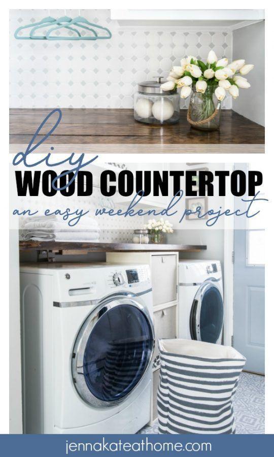 Laundry Room Diy Wood Countertop Simple Diy Projects Diy