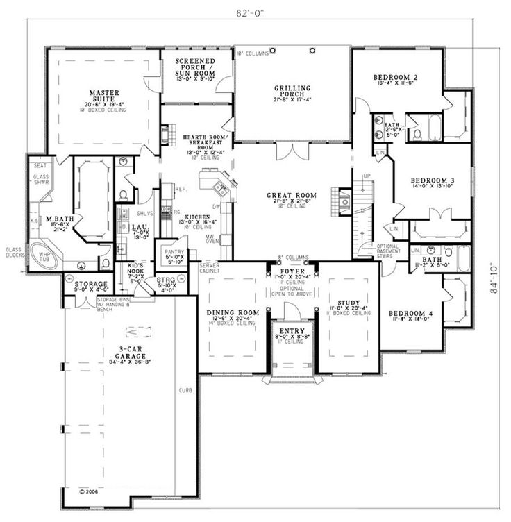 European House Plan 82145