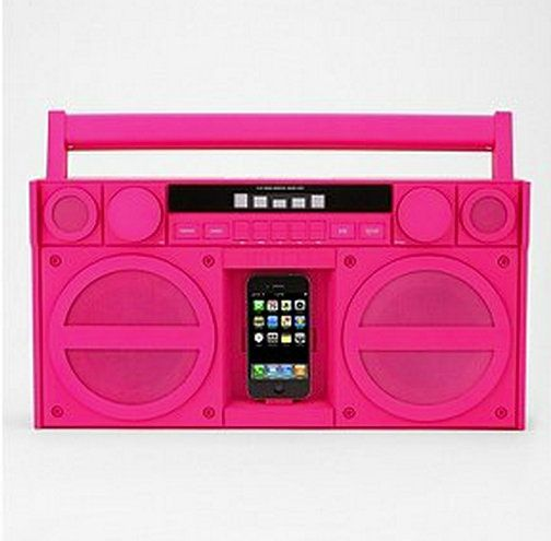 iHome iPod Docking System in hot pink