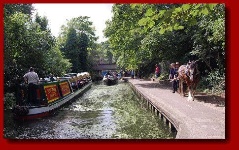 Canal barge through regents park