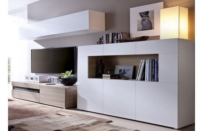 Mueble de sal n con aparador de dise o minimalista salon - Muebles salon minimalista ...