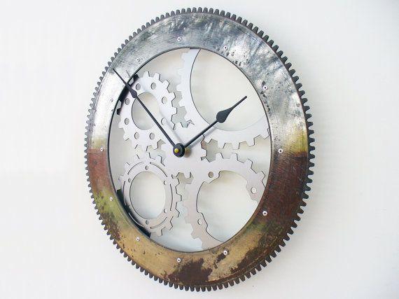 Drive Shaft II Modern Wall Clock Large