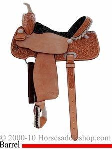"""15"""" 16"""" Billy Cook Half Breed Barrel Saddle 10-2010"""