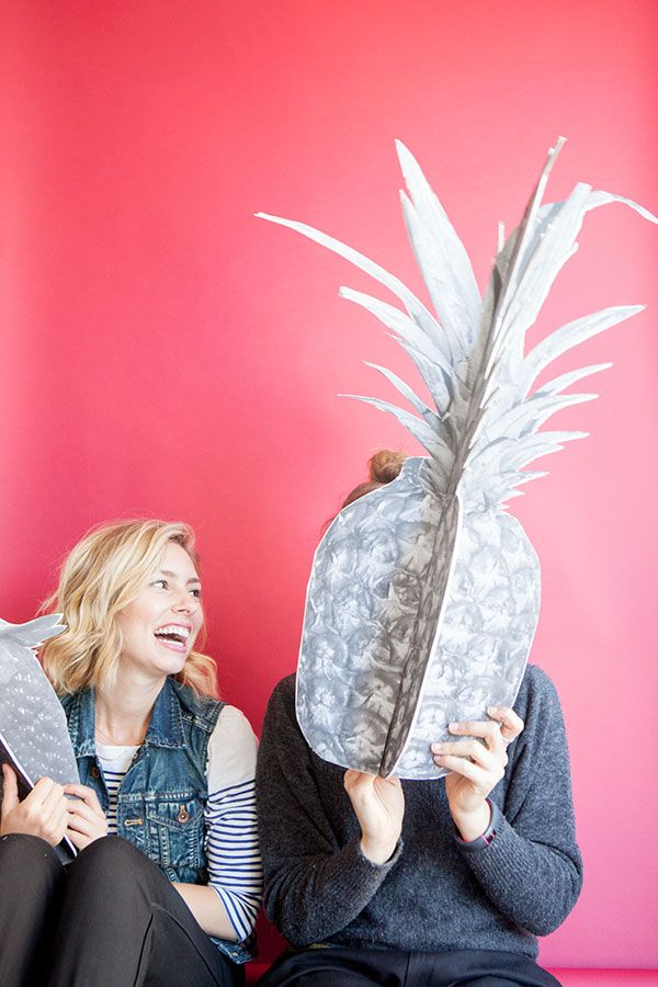 DIY Giant Fruit Photo Booth Props