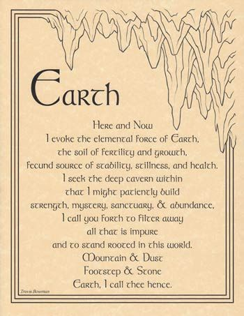 Earth Evocation Parchment Poster -The Old Ways Witchcraft Shoppe | The Old Ways Witchcraft & Pagan Shop
