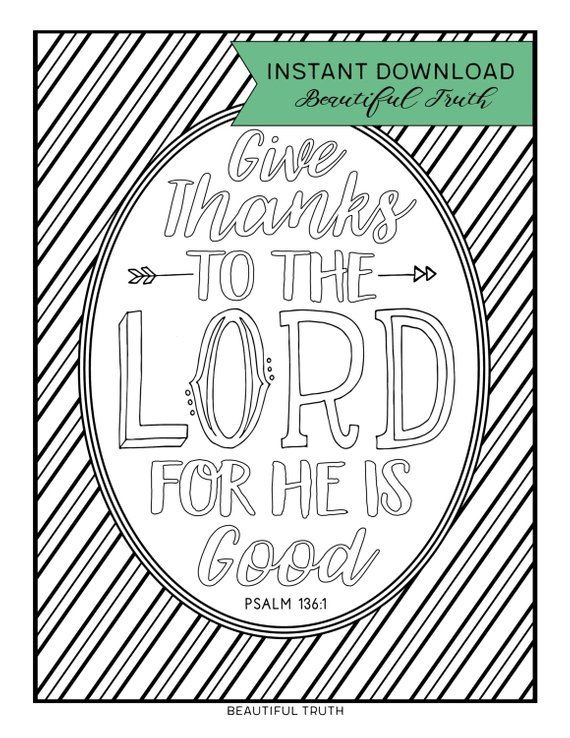 Free Coloring Pages About Psalm 136 Jambestlune