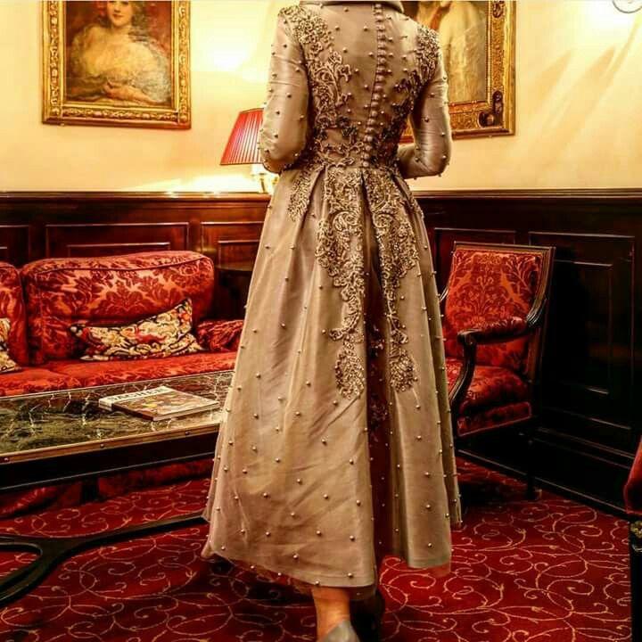 Tuay Karaca incili elbise