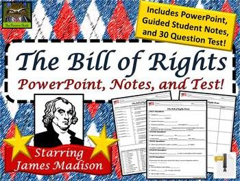 the bill of rights for kids 5th grade powerpoint guided notes