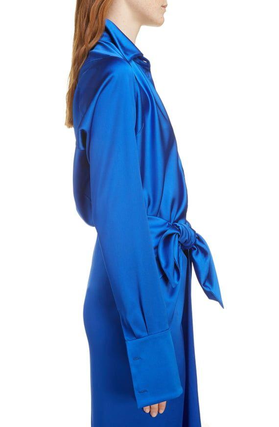 f8f4781f4b9 Balenciaga Stretch Satin Drape Back Shirt