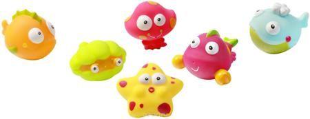 """BabyOno Набор игрушек для ванной Подводный мир Океан 6 шт  — 1064р.  Набор игрушек для ванной BabyOno """"Подводный мир. Океан"""" включает в себя шесть игрушек - разнообразных обитателей океана. Привлекательные формы и интенсивные цвета обязательно вызовут интерес у ребенка во время купания, благодаря чему ежедневный уход становится для него долгожданной игрой. Игрушки стимулируют развитие воображения и мануальных способностей, а также дают ребенку возможность наблюдать за поведением предметов в…"""