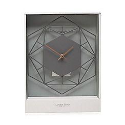 London Clock - Grey wall clock