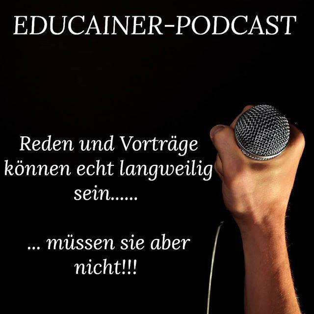 """Er ist da.... .... Der Educainer Podcast!! Er ist mit 2 Interviews gestartet und das mit keinen geringeren als  @anja_drews und @busch_oliver.  Beide sind sensationelle Redner und Experten auf ihrem Gebiet!!! Sie haben viel zum Thema Reden/Vorträge erzählt. Wie sie sich vorbereiten Mindset Gestaltung usw.  Schaut einfach vorbei  Podcast.educainer.com Oder Youtube.educainer.com  Wenn du es einfacher haben möchtest kannst du in der Bio auch dem Link folgen dann musst du du nur """"klicken""""   Und…"""